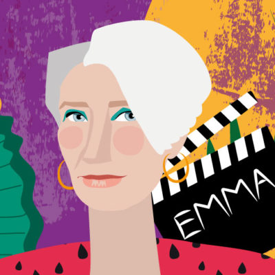 Emma Thompson portrait | Stefania Tomasich for CrunchyTales
