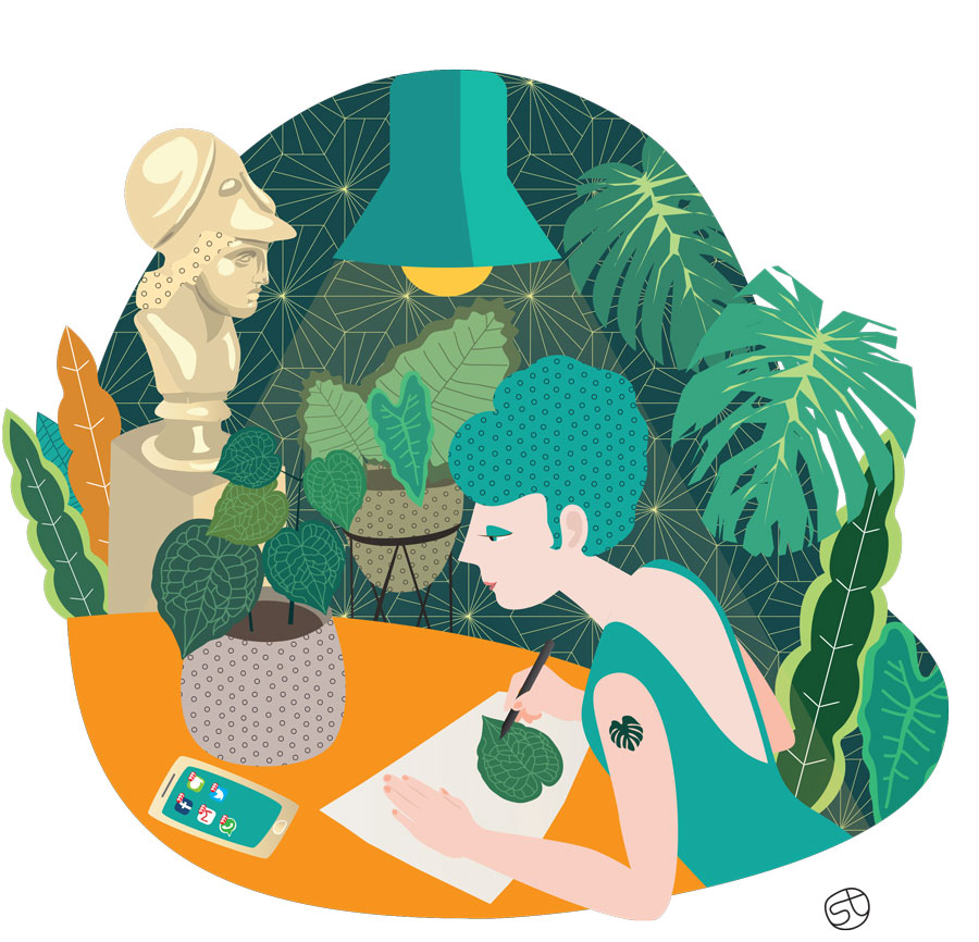 Green Addict with a passion - Illustratiom | Stefania Tomasich