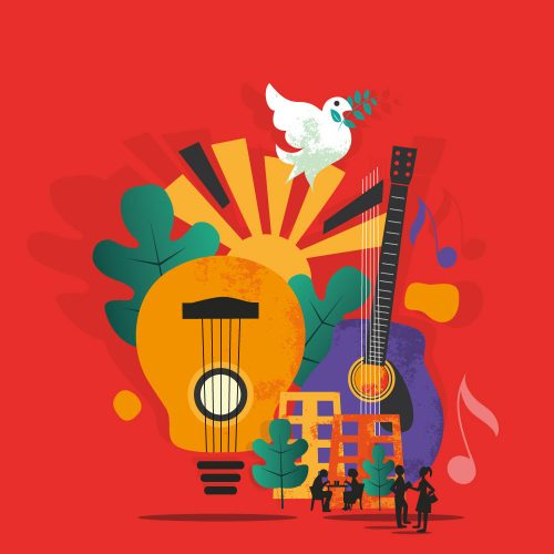 Ossola Guitar Festival Illustration By Stefania Tomasich