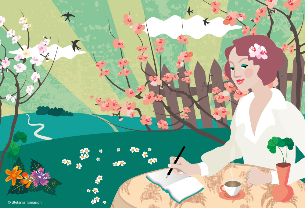 Spring Illustration Stefania Tomasich