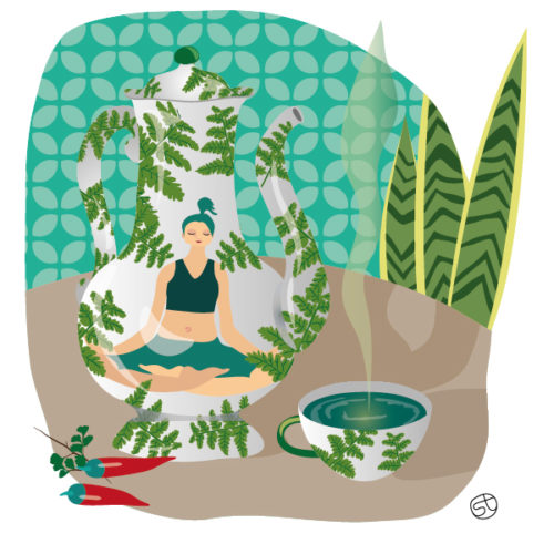 Tea Time And Yoga | By Stefania Tomasich
