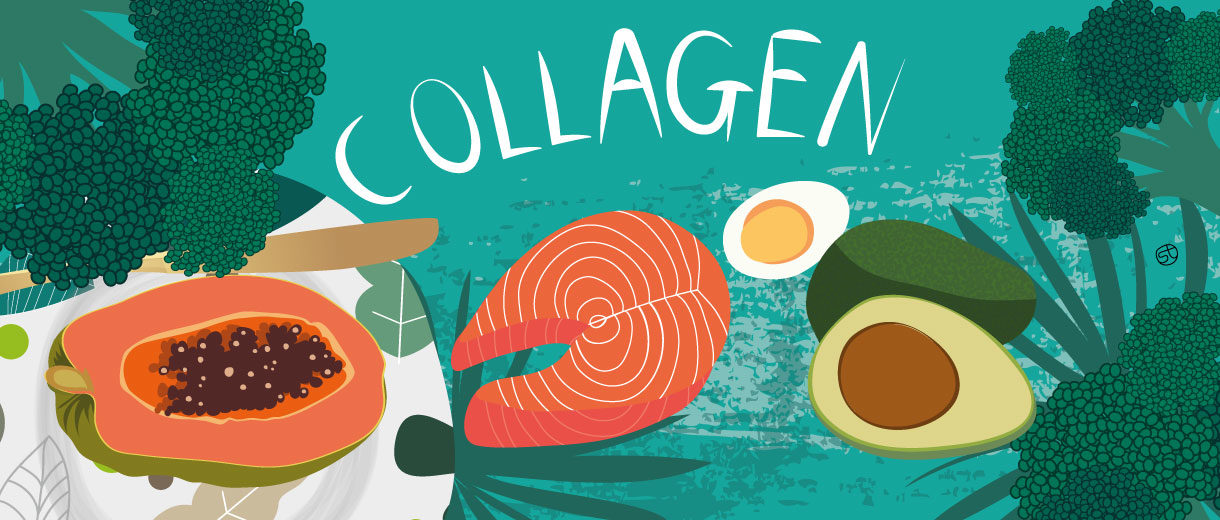The Collagen Diet | Illustration By Stefania Tomasich For CrunchyTales