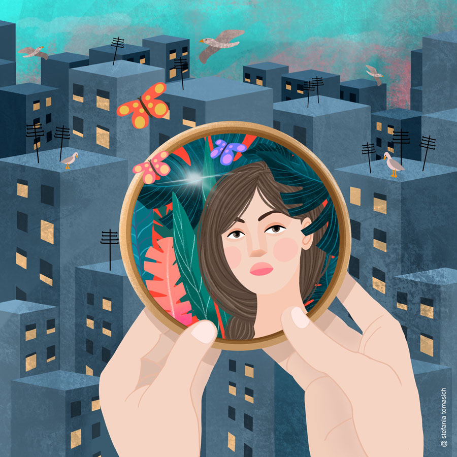 The mirror and the city | by Stefania Tomasich