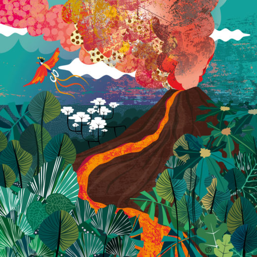 Illustration For Tapirulan Contest. Volcano | Super, Like The Power And Beauty Of Nature.