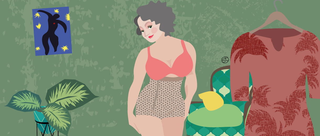 Curvy woman | for CrunchyTales.com by Stefania Tomasich