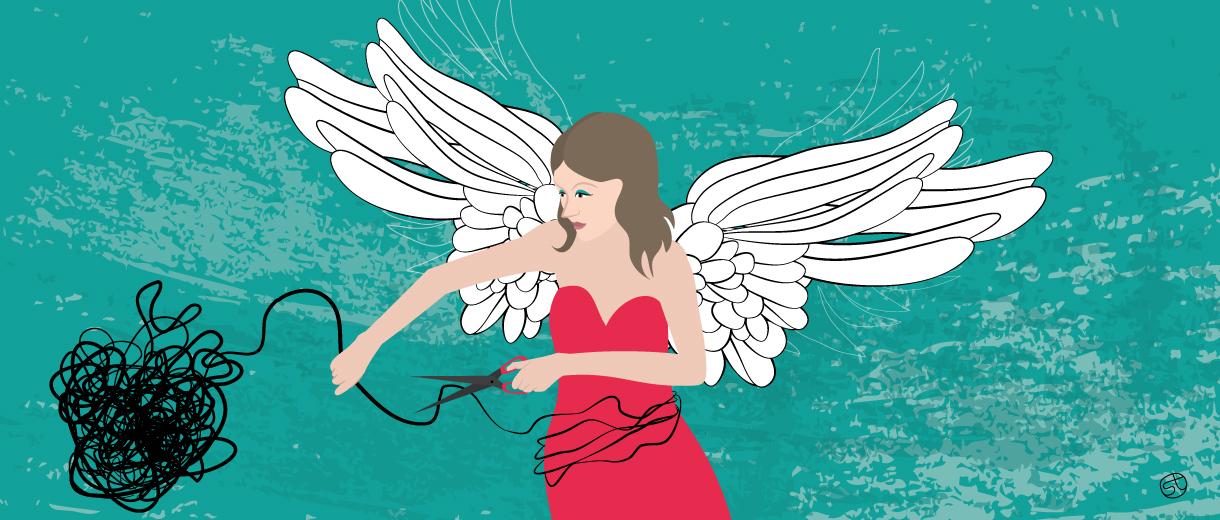 Break free from toxic relationships | Illustration by Stefania Tomasich for CrunchyTales