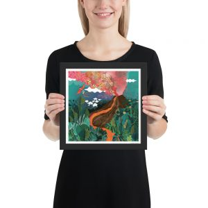 Super Volcano Framed Poster