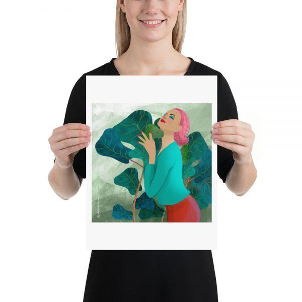 Ficus Lyrata Love Poster
