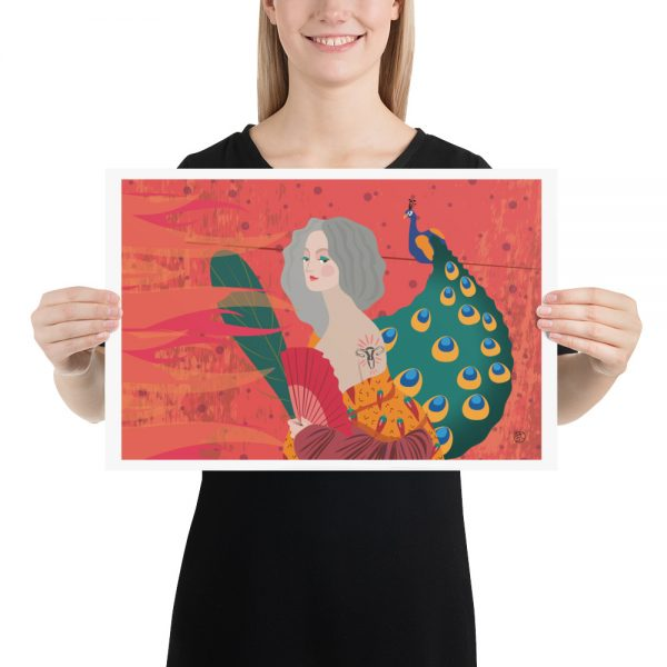 Midlife Woman illustration poster by Stefa