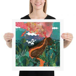Super Tropical Volcano Poster