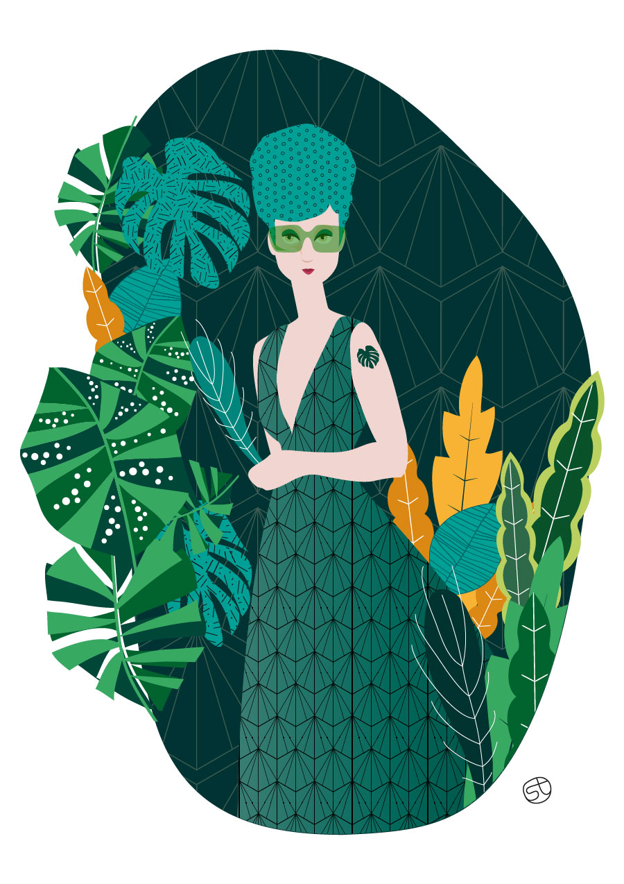 Green Addict- Illustrazione | Stefania Tomasich